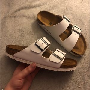 White Birkenstock Sandals